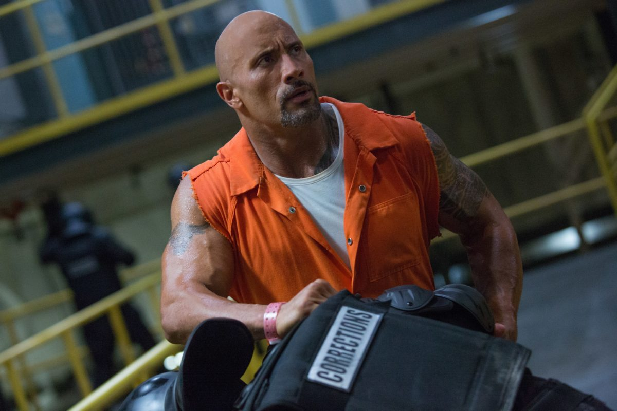 Dwayne Johnson in Fast and Furious 8