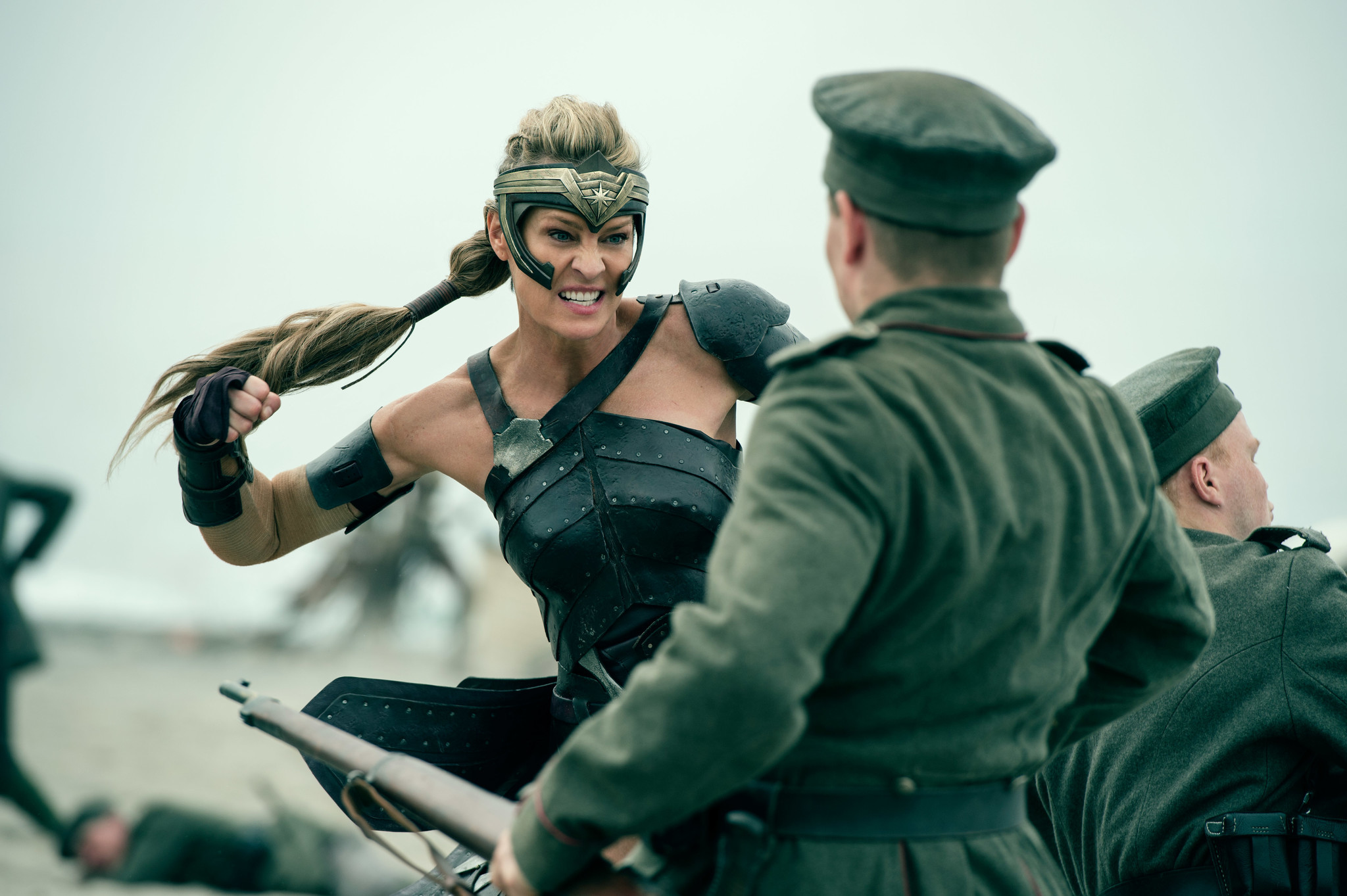 Antiope (Robin Wright) kicking serious butt in Wonder Woman