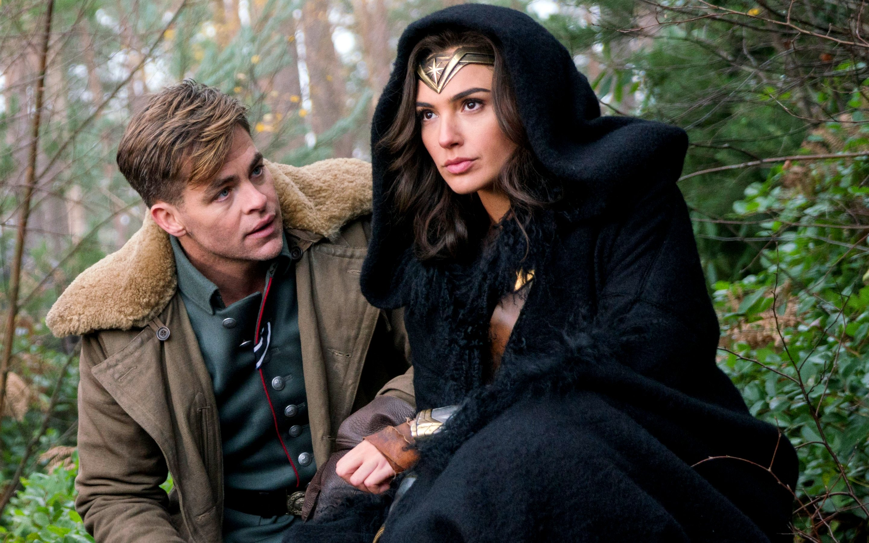 Wonder Woman (Gal Gadot) and Steve Trevor (Chris Pine) were made for each other.