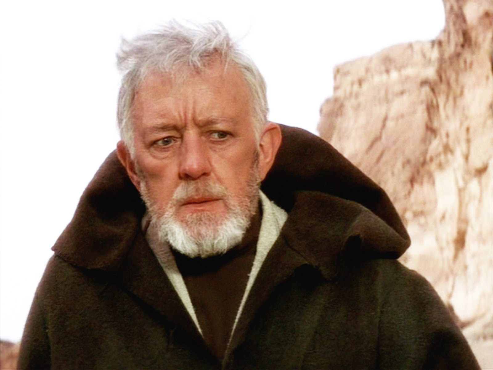 Alec Guinness as Obi Wan Kenobi on A New Hope.