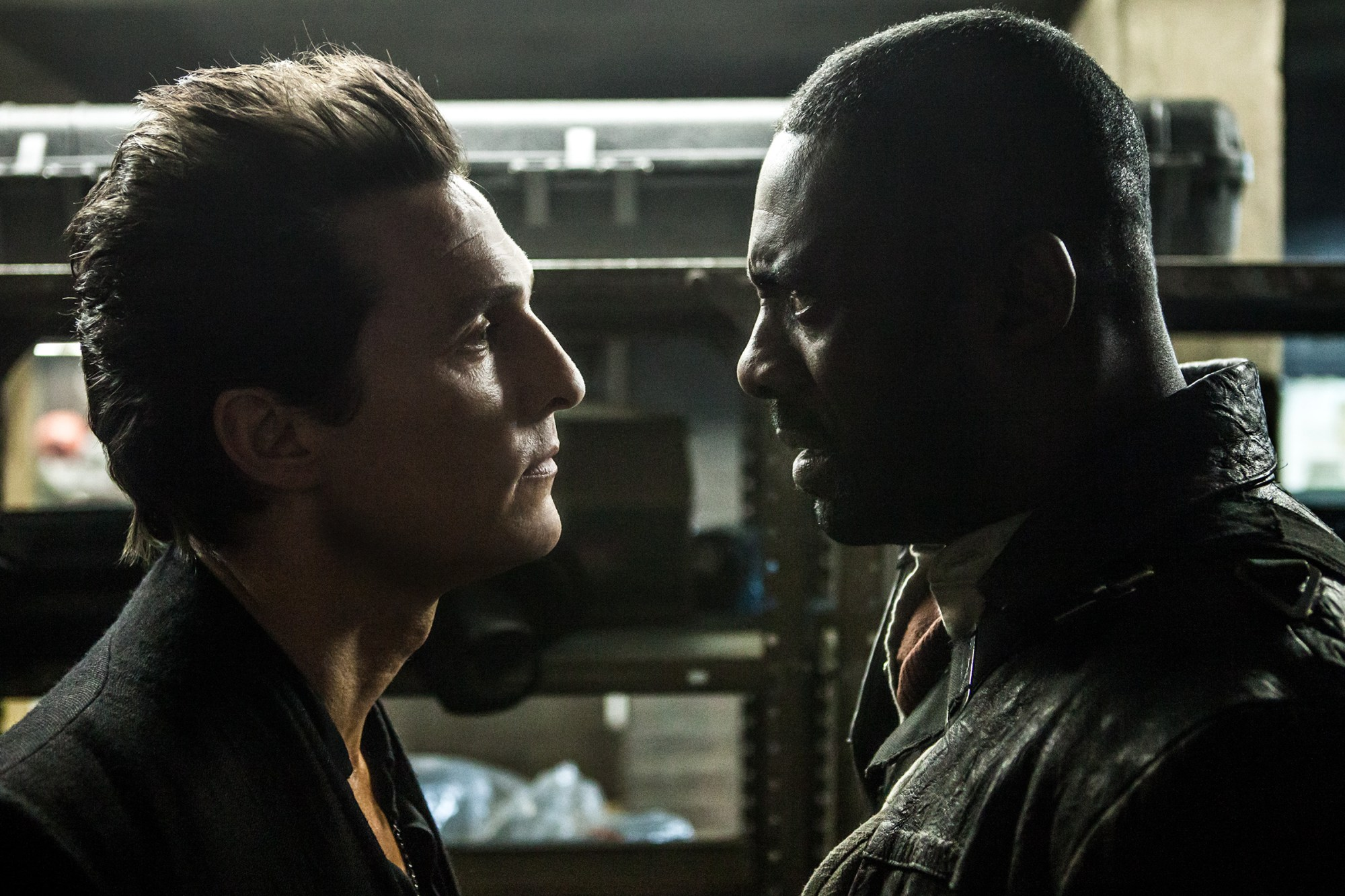 Walter (Matthew McConaughey) and Roland (Idris Elba) in The Dark Tower