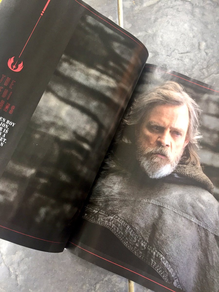 Luke Skywalker has taken the black in The Last Jedi