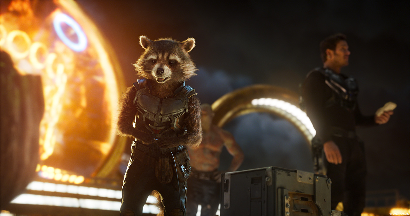 Rocket Raccoon in Guardians of the Galaxy Vol. 2