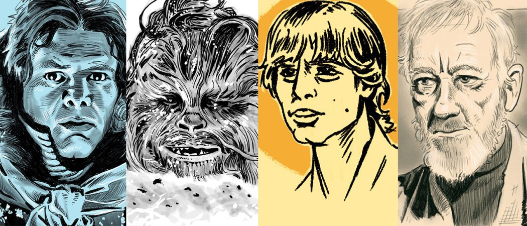 An Artist On Twitter Has Been Drawing Every Star Wars Character In Order Of Appearance For Over 100 Days