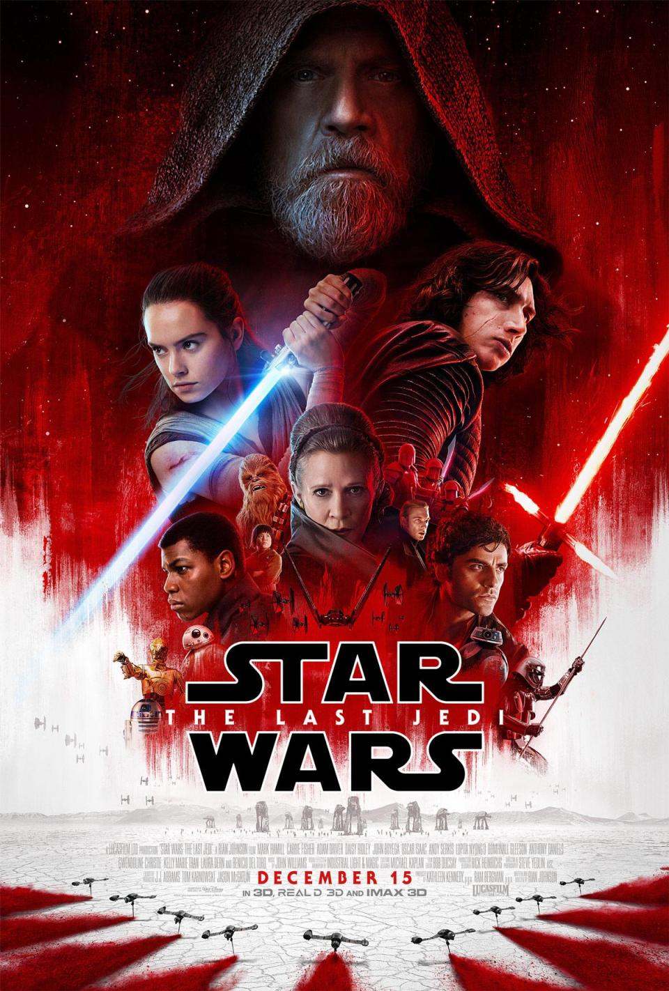 Darth Vader's Shadow Looms Large In Star Wars: The Last Jedi's New Poster