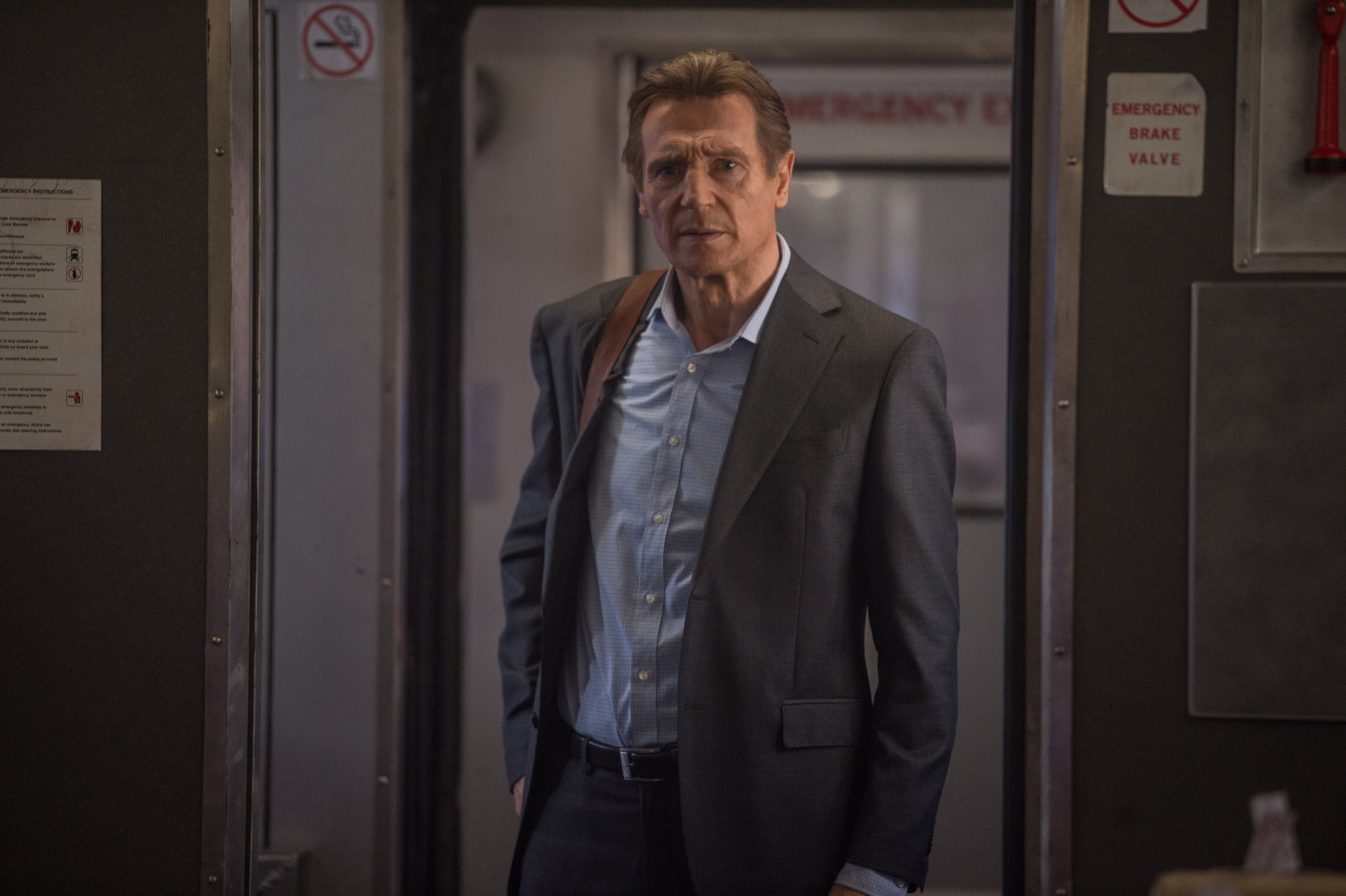 Liam is doing what Liam does best in The Commuter