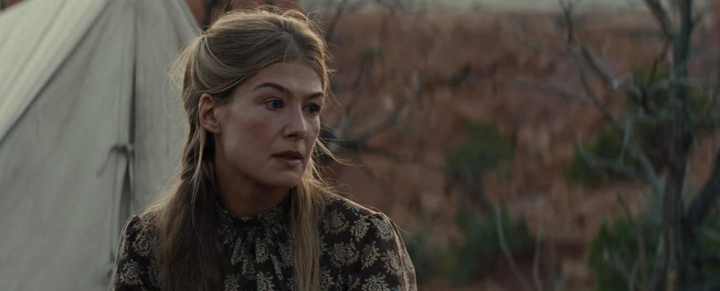 Rosamund Pike in Scott Cooper's Hostiles