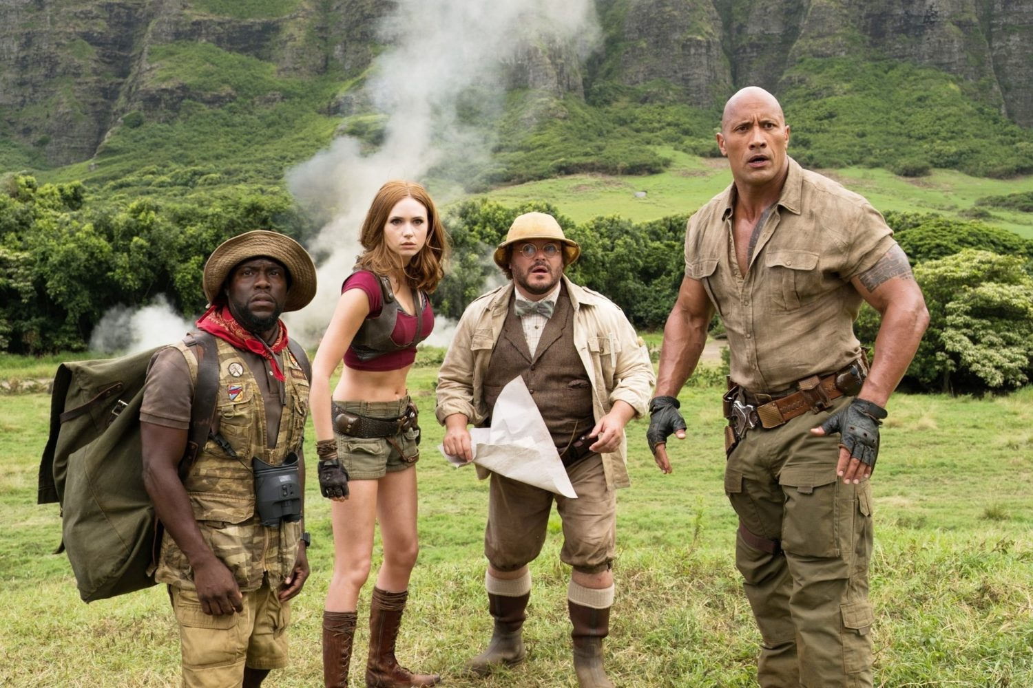 The stars of Jumanji 4: Welcome To The Jungle all together