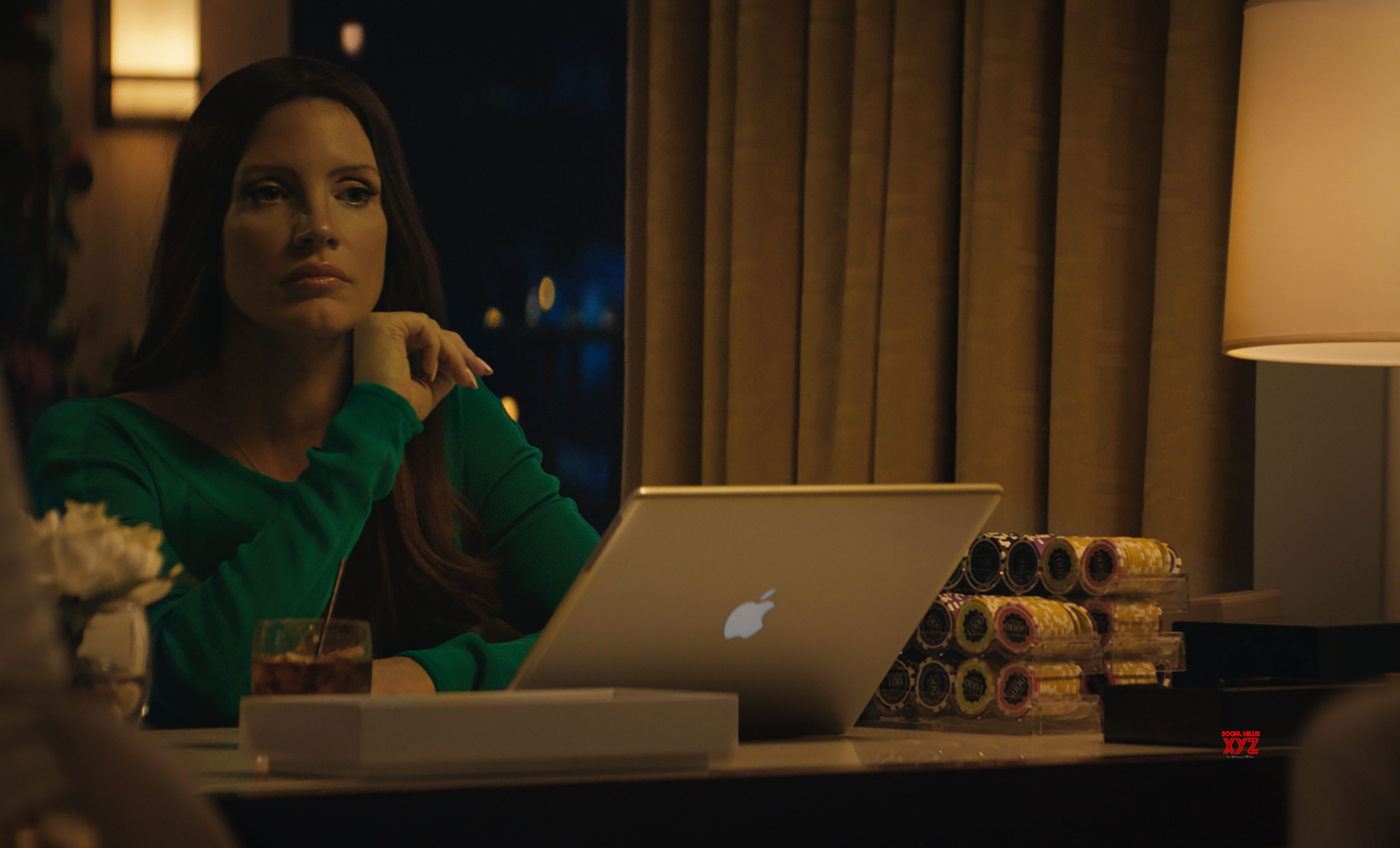 Jessica Chastain as Molly Bloom in Molly's Game