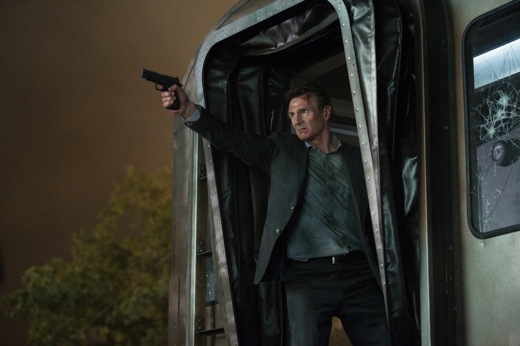 Liam Neeson as Michael in The Commuter.