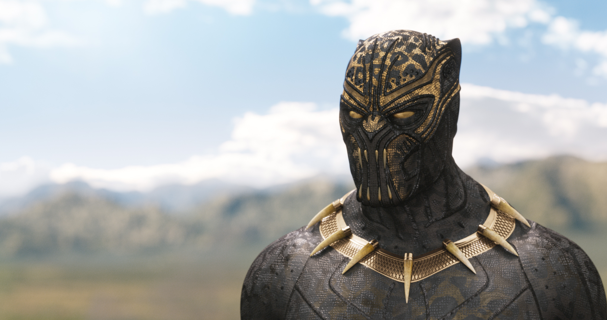 Erik Killmonger (Michael B. Jordan) in the other Black Panther suit.