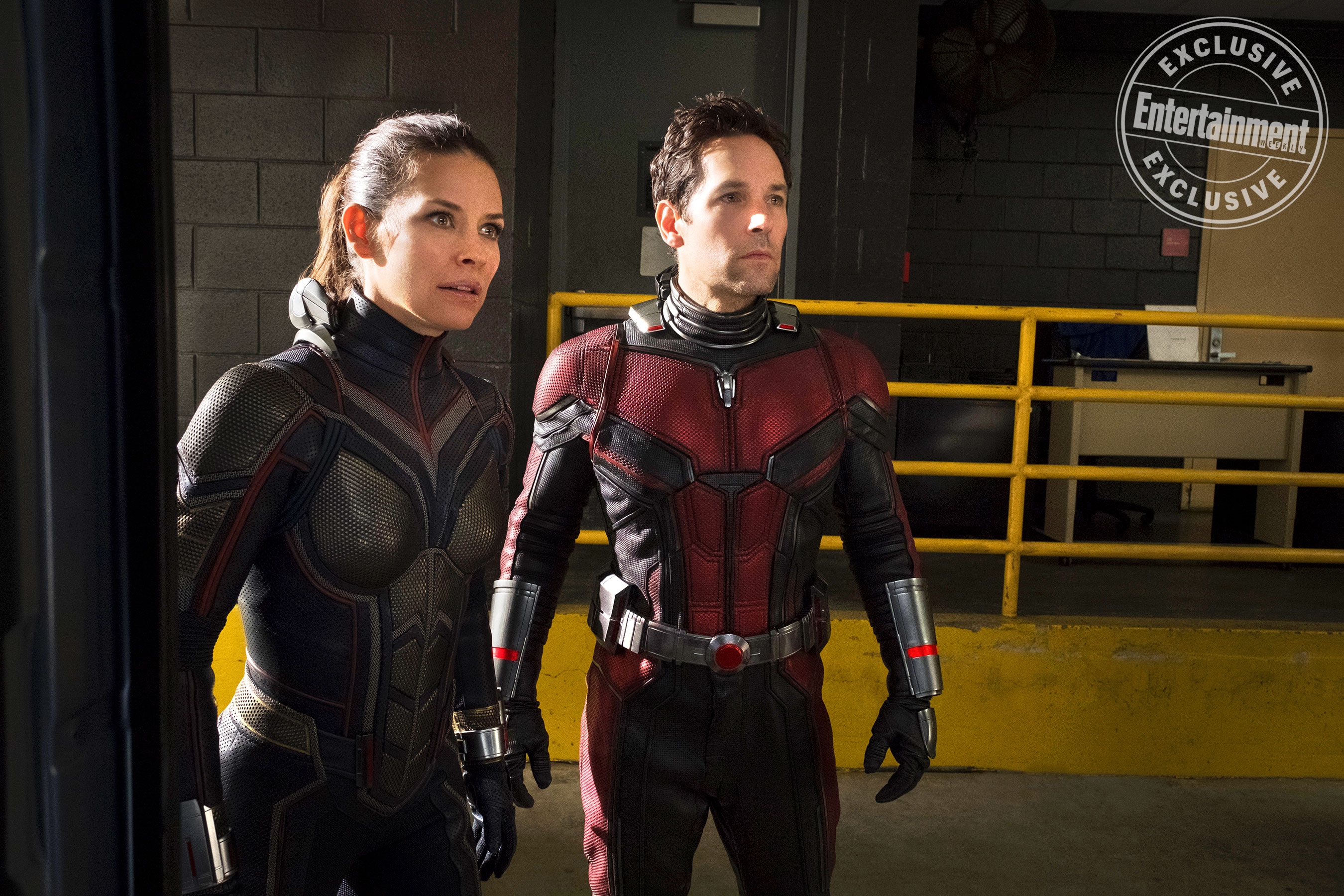 Marvel Studios ANT-MAN AND THE WASP L to R: The Wasp/Hope van Dyne (Evangeline Lilly) and Ant-Man/Scott Lang (Paul Rudd)