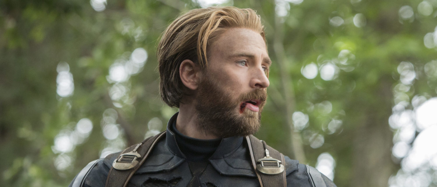 Chris Evans as Captain America in Avengers: Infinity War
