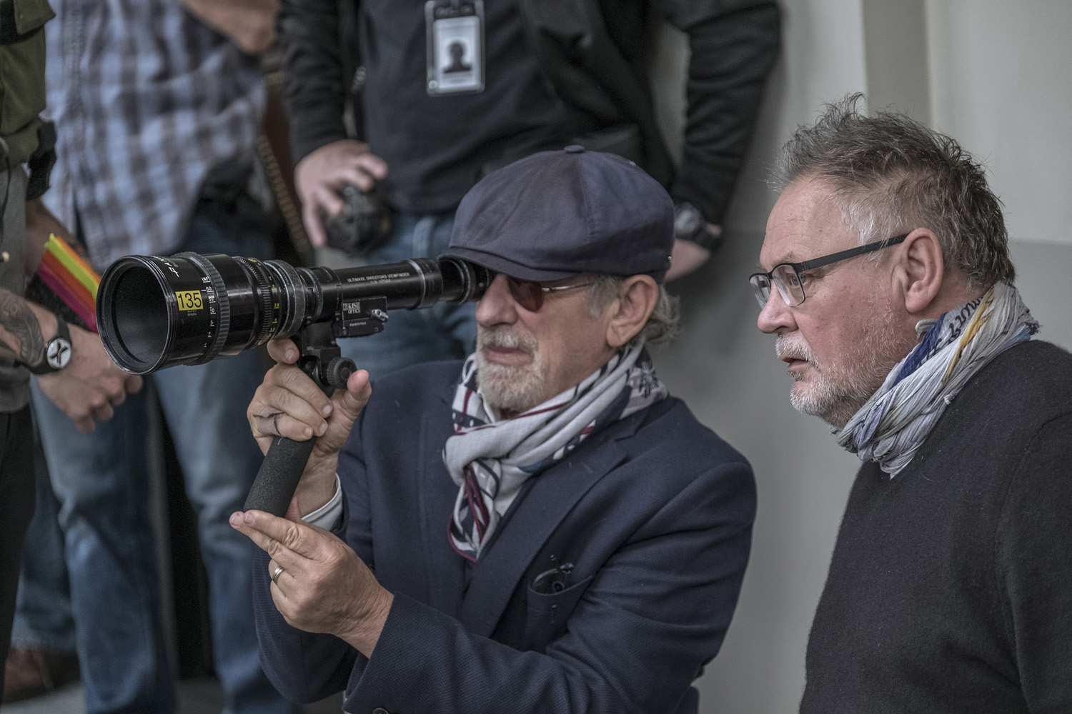 Spielberg directing The Post. Image via 20th Century Fox