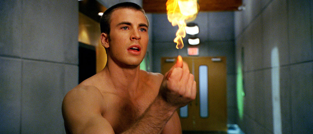 Fantastic Four (2005) Directed by Tim Story Shown: Chris Evans (as Johnny Storm/The Human Torch)