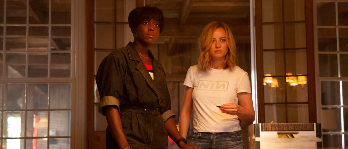 Brie Larson and Lashana Lynch in Captain Marvel