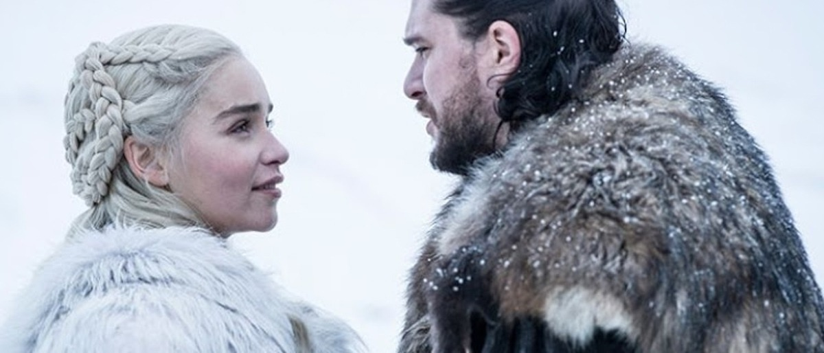 Daenerys and Jon Snow in Game of Thrones Season 8