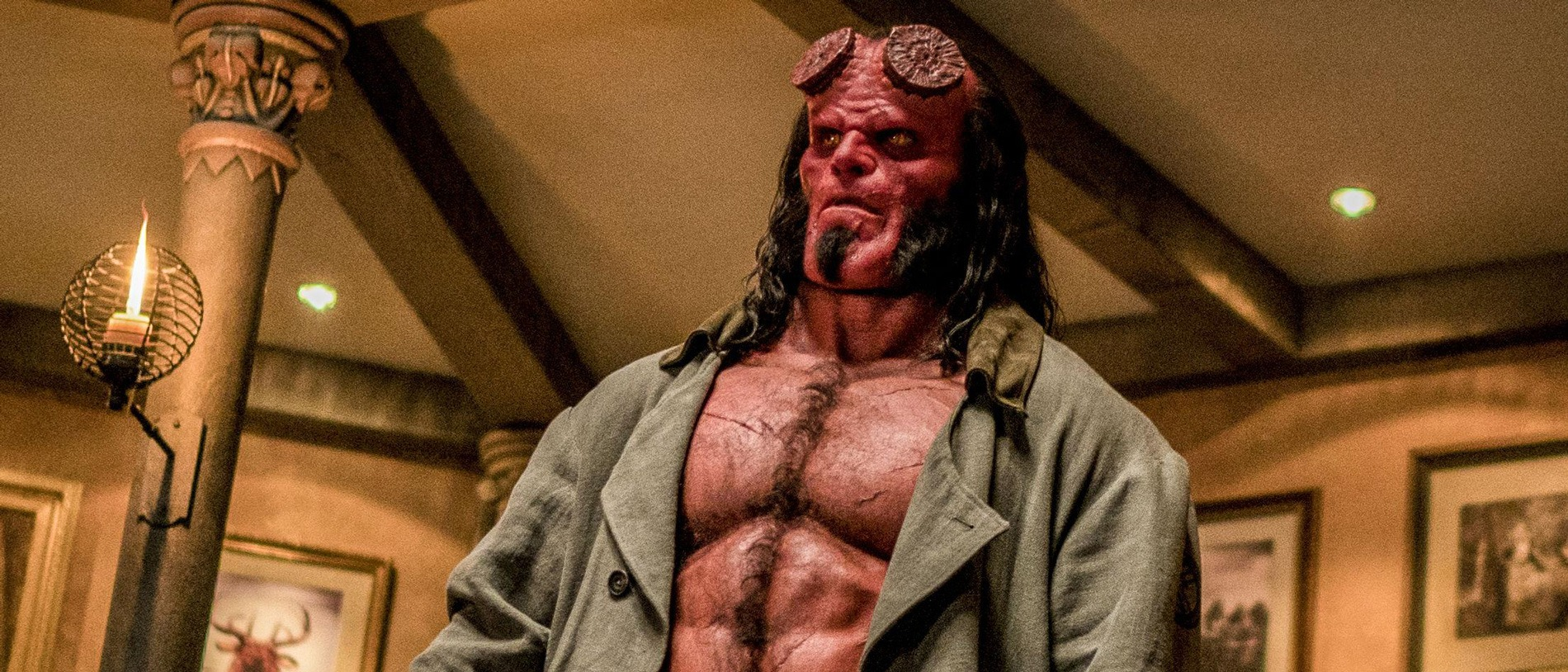 David Harbour as Hellboy in Hellboy