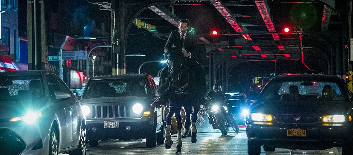 John Wick on a horse in John Wick: Chapter 3 - Parabellum
