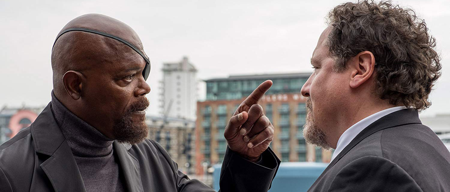 Nick Fury and Happy in Spider-Man: Far From Home