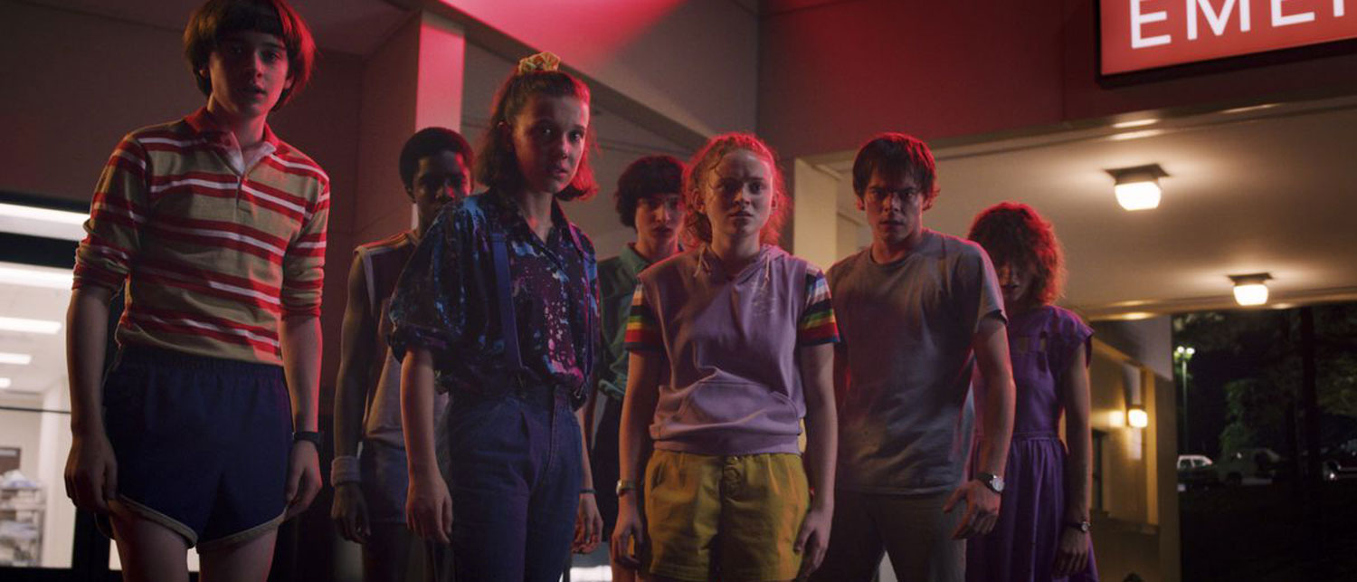 The Stranger Things crew back in season 3