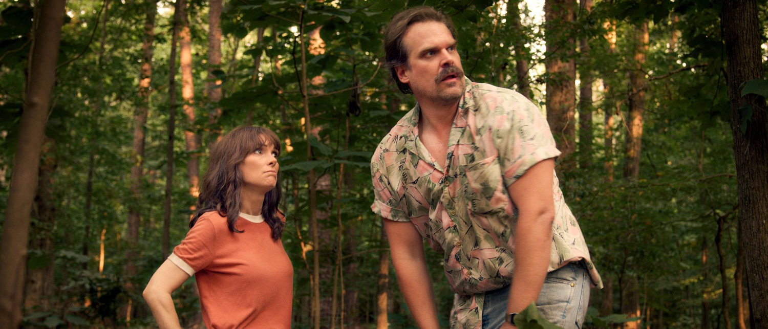 Joyce and Jim in Stranger Things