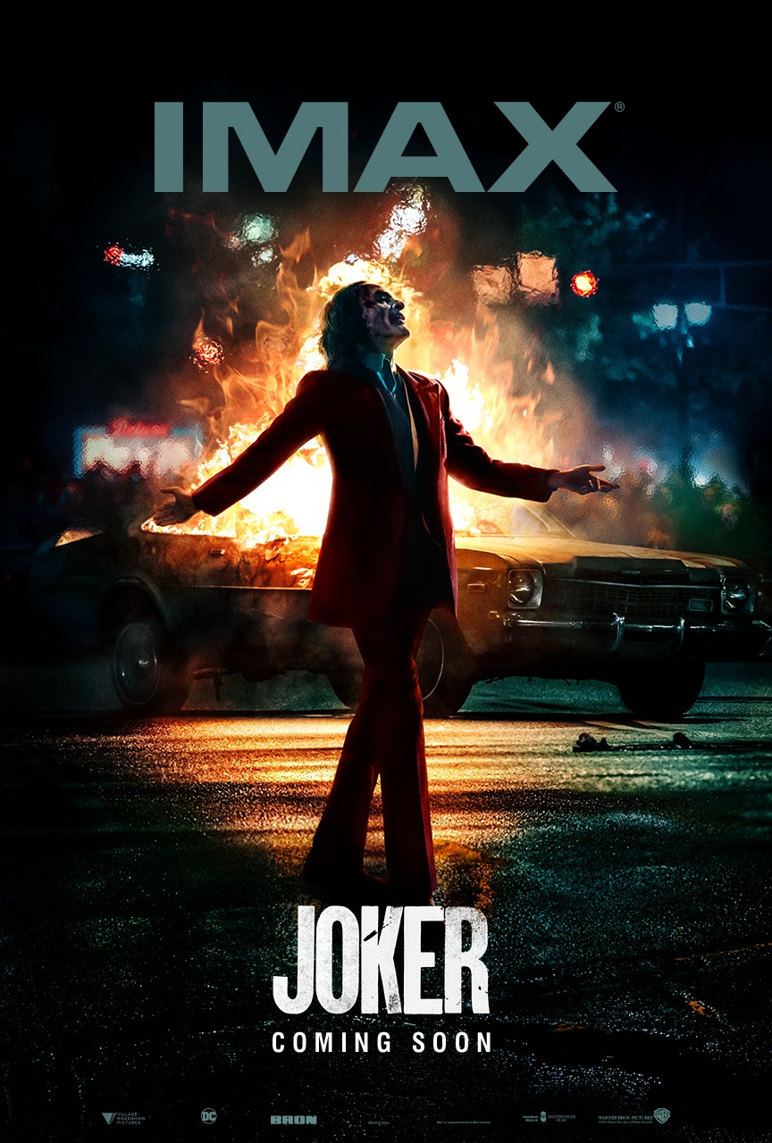 Joaquin Phoenix is the Joker in Joker's new IMAX poster