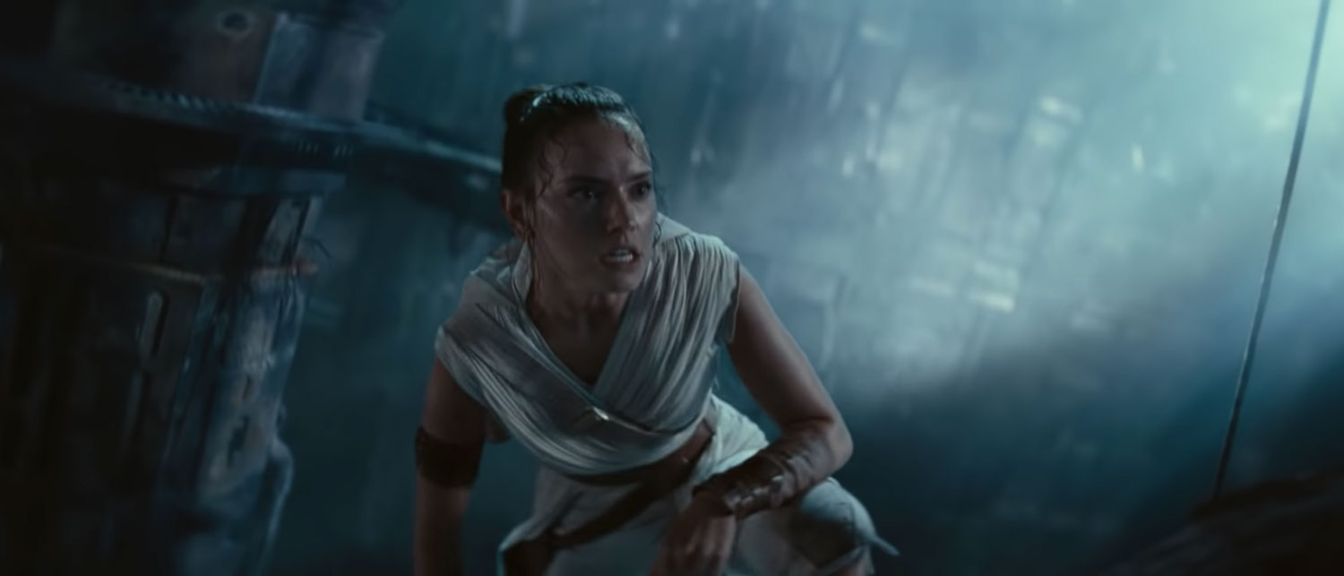 Rey in Star Wars: The Rise Of Skywalker's trailer