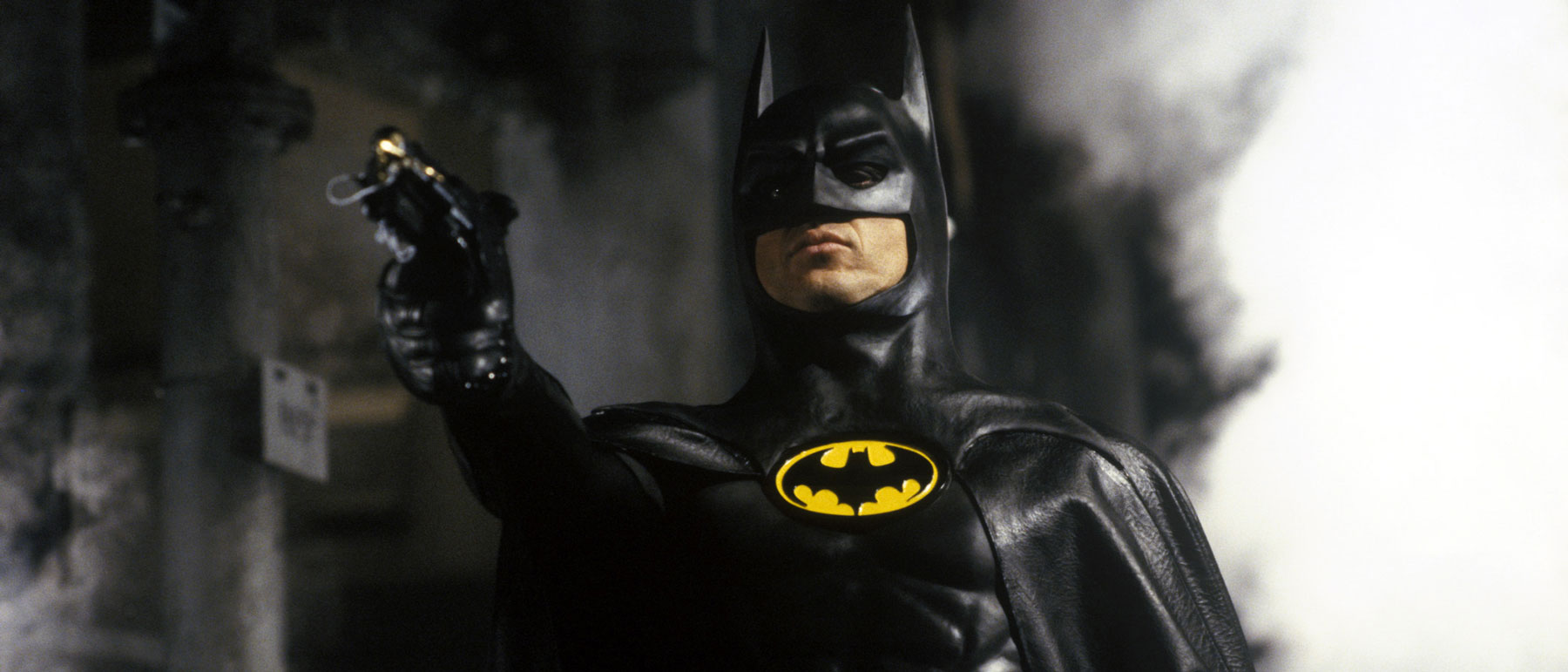 Michael Keaton as Batman in Tim Burton's 1989 Batman