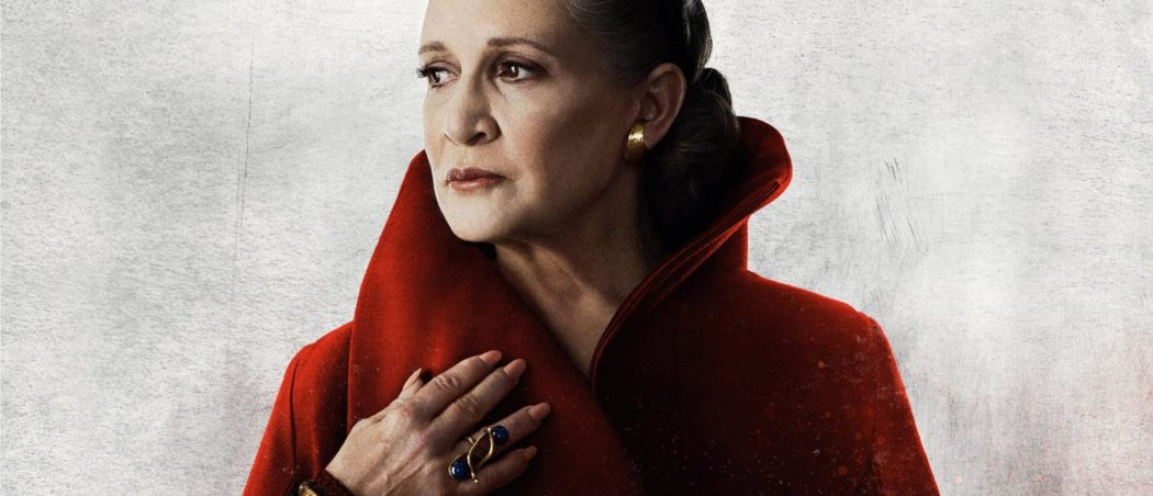 Star Wars The Last Jedi poster featuring Carrie Fisher as Leia