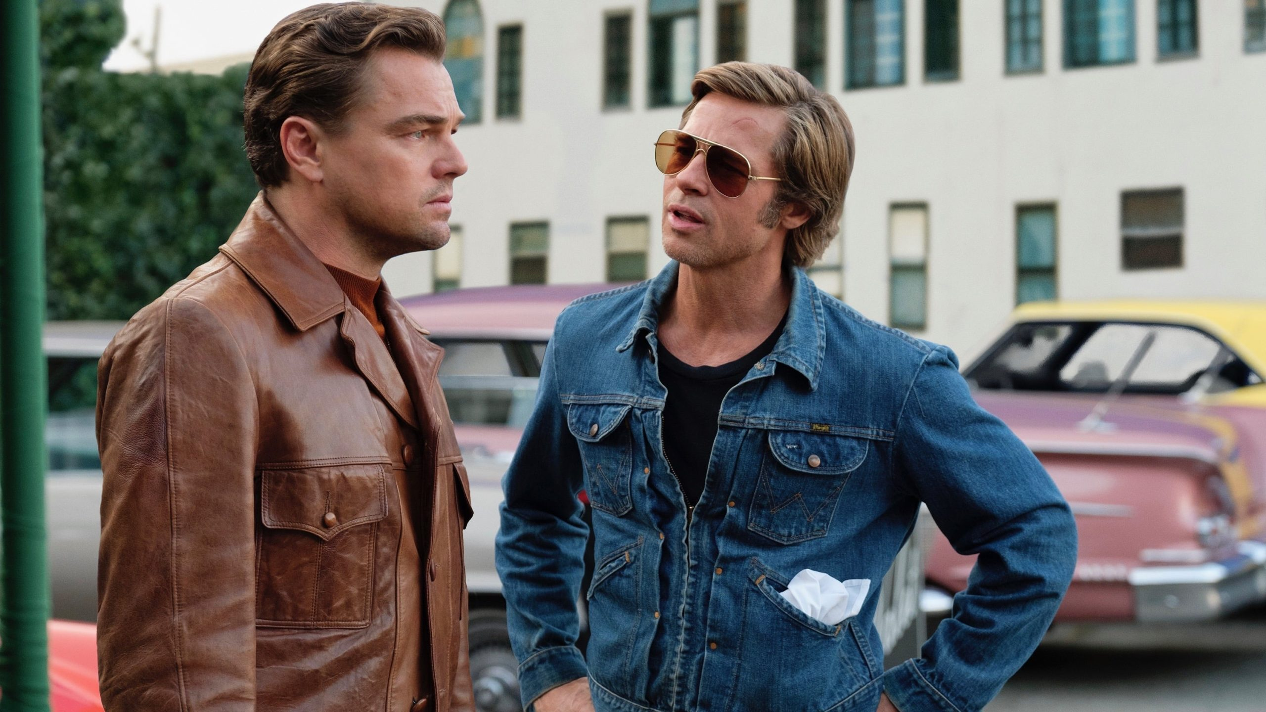 Leonard DiCaprio and Brad Pitt In Once Upon A Time... In Hollywood