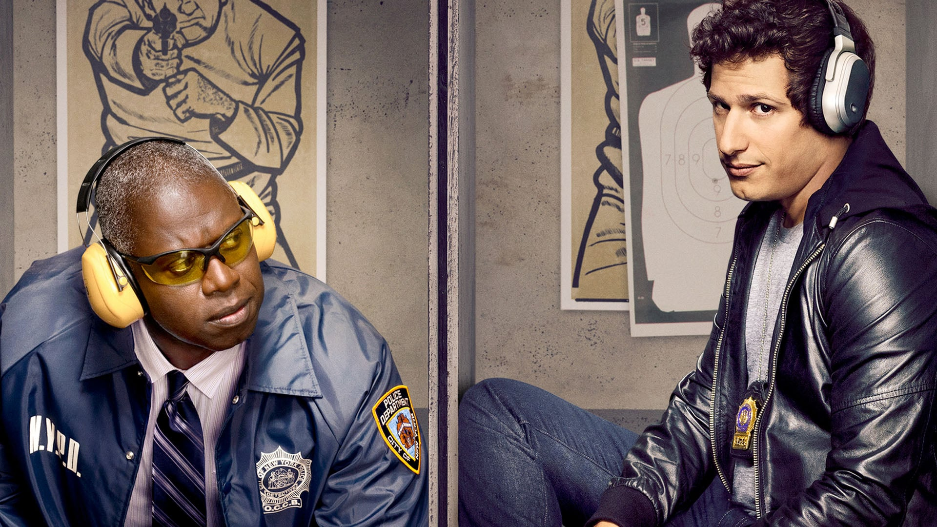 Captain Ray Holt and Detective Peralta in Brooklyn Nine-Nine Season 7