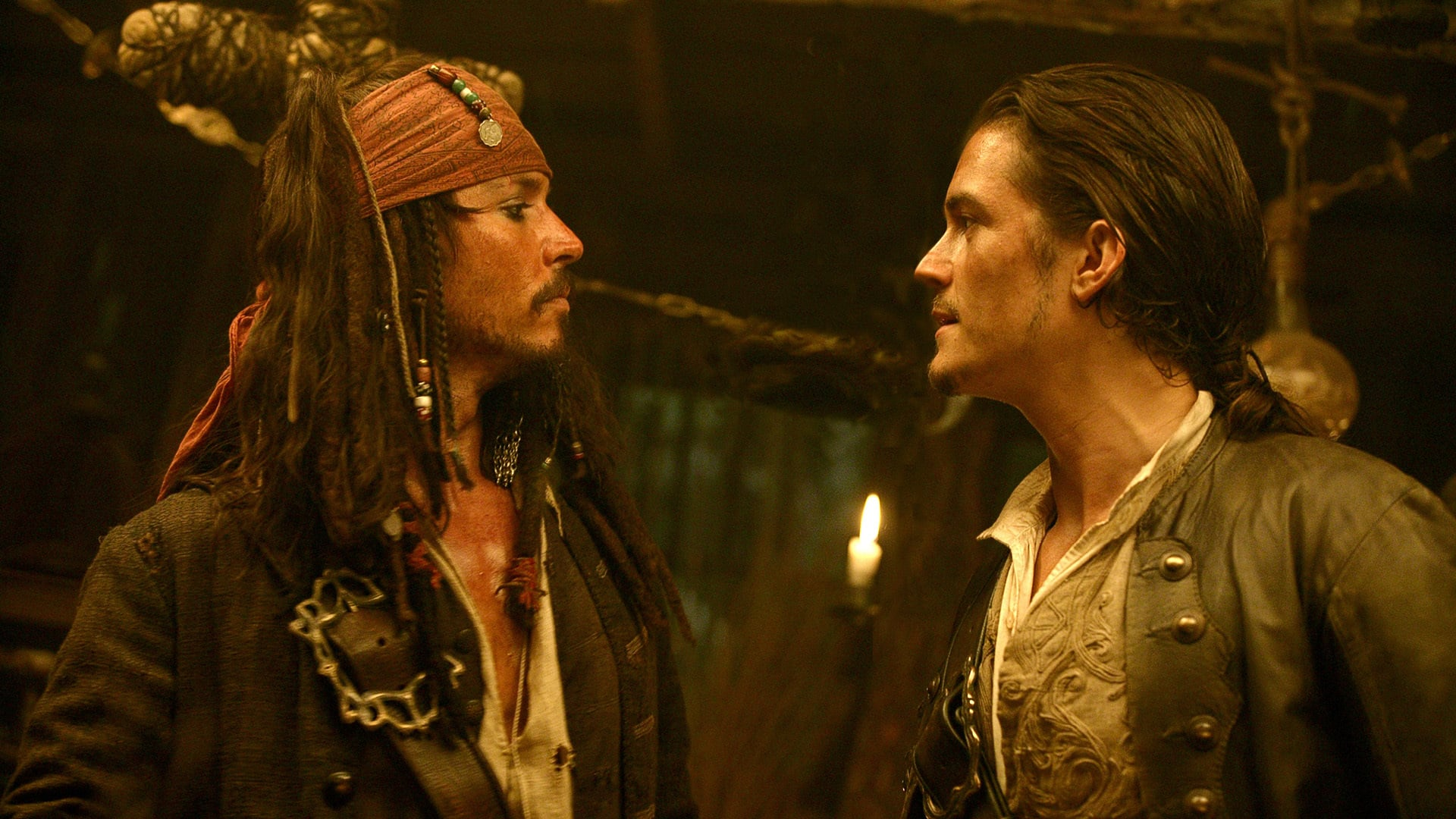 Johnny Depp as Captain Jack Sparrow in Pirates of the Caribbean: The Curse of The Black Pearl