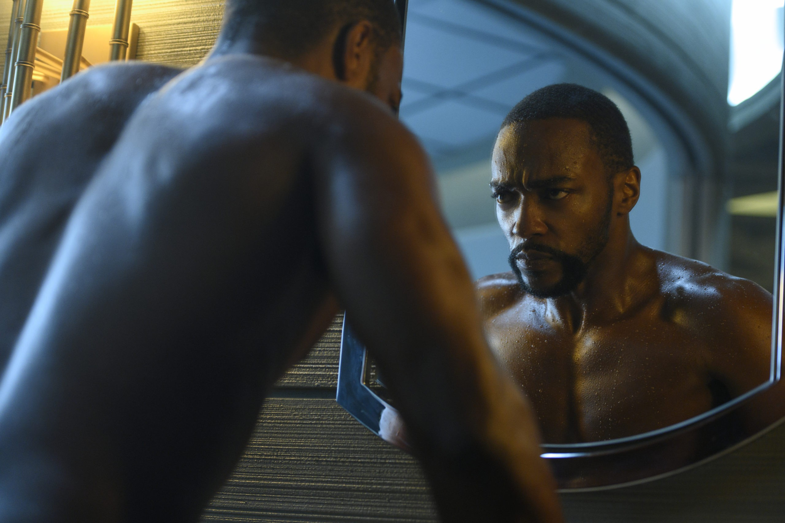 Anthony Mackie as Takeshi Kovacs in Altered Carbon Season 2