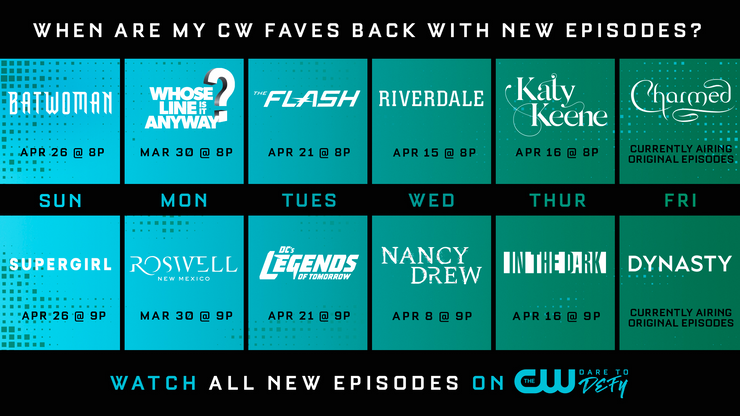 Arrowverse shows will be returning to The CW in April