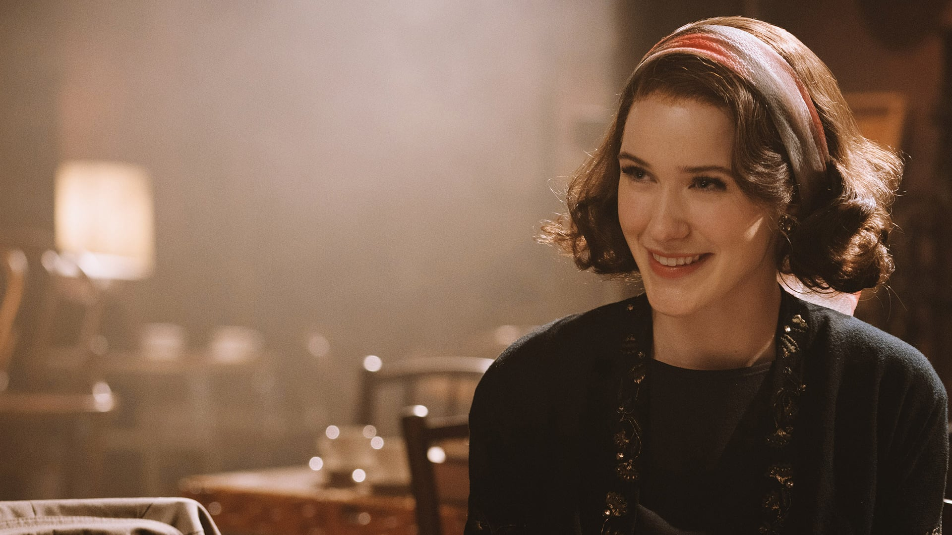 Rachel Brosnahan as Miriam Maisel in The Marvelous Mrs. Maisel