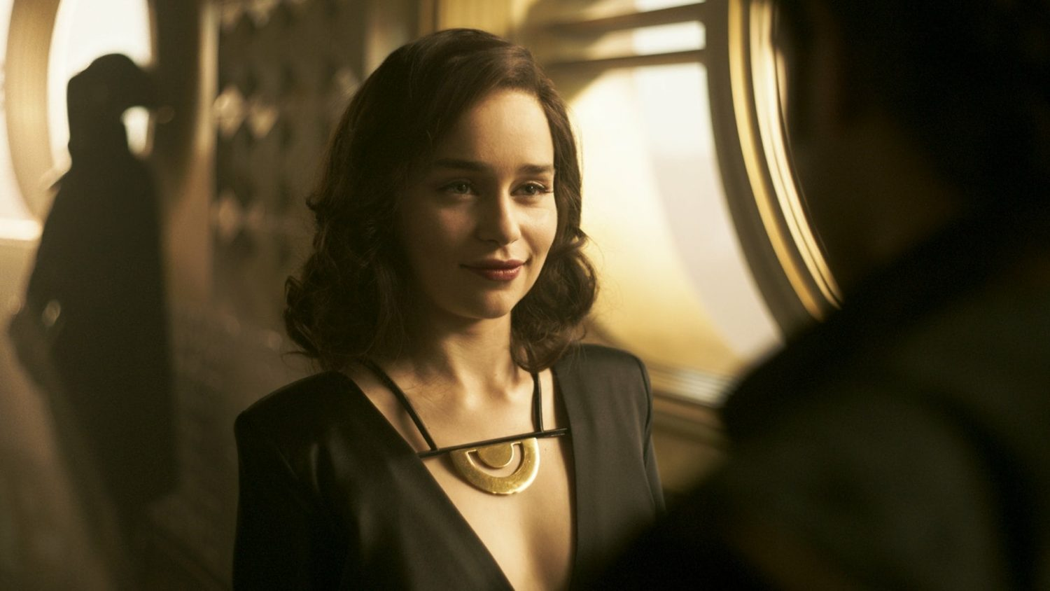 Emilia Clarke as Q'ira in Solo: A Star Wars Story
