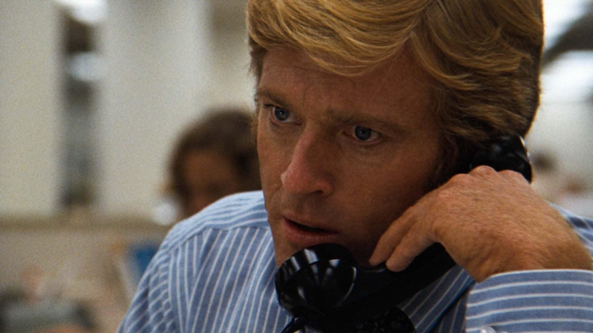 Robert Redford as Bob Woodward in All The President's Men