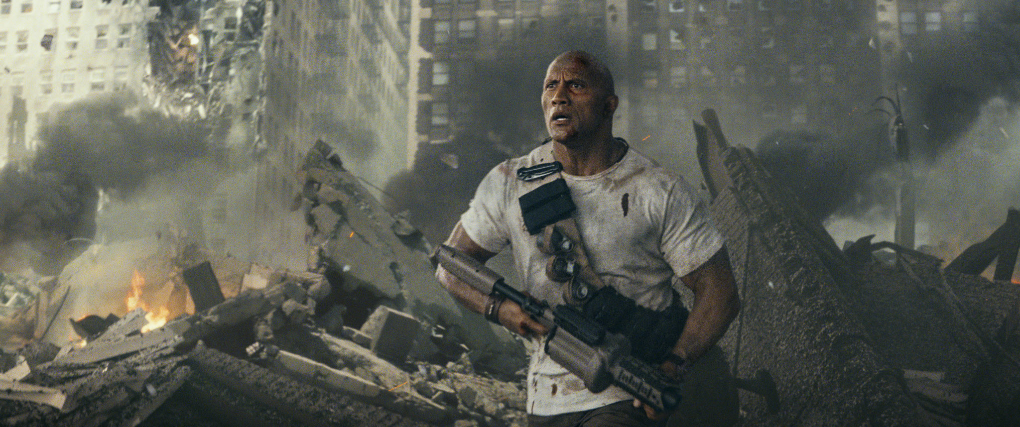 Dwayne Johnson saving the world (again) Action movies