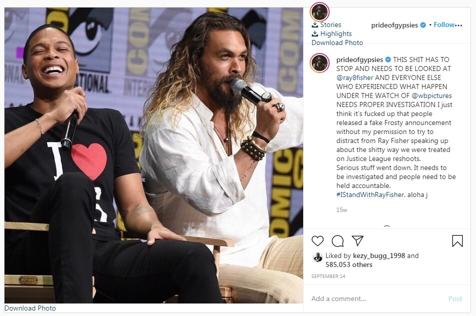 Jason Mamoa on Frosty